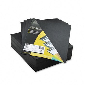 Fellowes® Executive™ Leather Textured Vinyl Presentation Covers for Binding Systems COVER,BND,OVSZ,100PK,BK (Pack of2) - Fellowes Leather