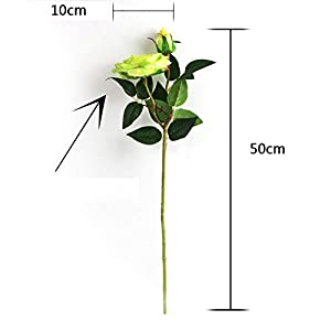 Adarl 1pc Artificial Rose Flower Fake Silk PU Feel Moisturizing Rose Flower Bouquet for Home Office Decor Party Festival Wedding Decoration Champagne 3