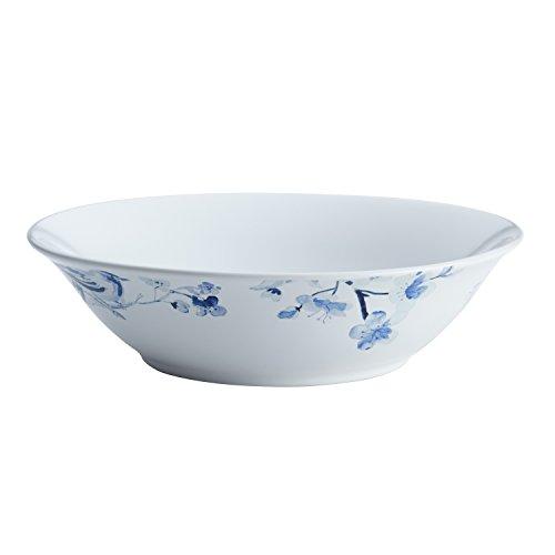 Bloom Round Serving Plate - Paula Deen Indigo Blossom Stoneware Round Serving Dinnerware Bowl, 10