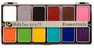 Wolfe FX, Face Art, and FX Essential Hydrocolor Makeup, 12 Color Pallete (Face Paints Wolfe Brothers)