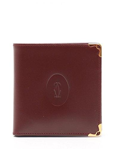 [カルティエ]Cartier マストライン 二つ折り財布 レザー ボルドー 中古 B07FBC6GHR  -