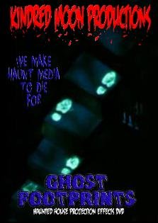 ghost footprints halloween projection effects dvd