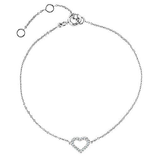 (Eliana and Eli 14K White Gold .06 CTW Diamond Heart 7