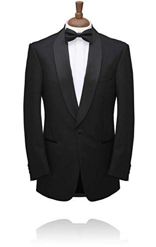 Luxury Black Tuxedo Jacket, Satin Shawl Lapel, Mens Dinner Jacket by Alexander Dobell