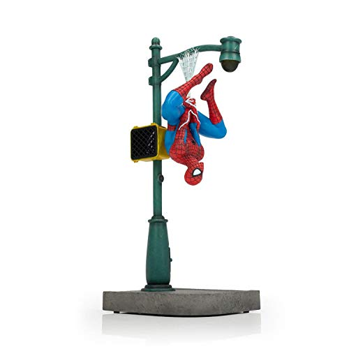 Marvel Spider-Man Collector Statue   Large Interactive Spider-Man Figure   Features Upside-Down Spider-Man  1:8th Scale Model  14 Inches Tall