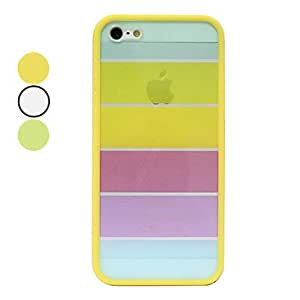 Rainbow Color Transparent Back Case for iPhone 5/5S(Assorted Color) --- COLOR:White