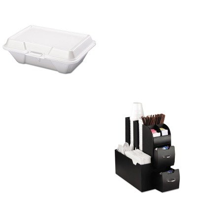 KITEMSCAD01BLKGPK20500 - Value Kit - Genpak Foam Carryout Containers (GPK20500) and Ems Mind Reader Llc Coffee Organizer (EMSCAD01BLK)