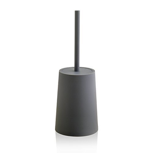 O-KIS Toilet Brush and Holder Modern Simple Elegant Practical Toilet Brush for Bathroom Toilet Storage - Charcoal Grey