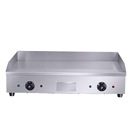 Commercial 4400W Electric Countertop Griddle Stainless Steel Grill Machine with 2 Adjustable Burners for Restaurant Barbecue by GOLDEN ELEPHANT (Image #7)