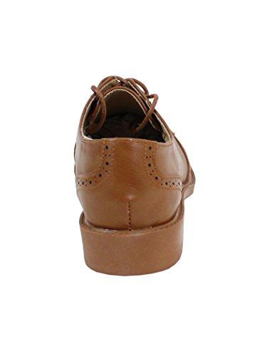 By Mujer Shoes para de Zapatos cordones Camel wTf1HqT0W