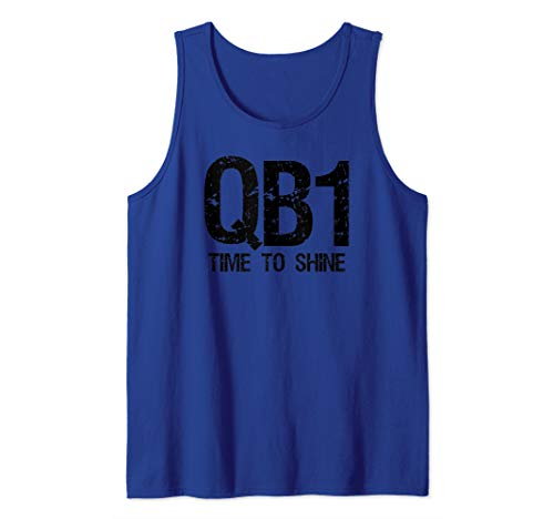 QB1 Time To Shine American Football Quarterback Tank Top