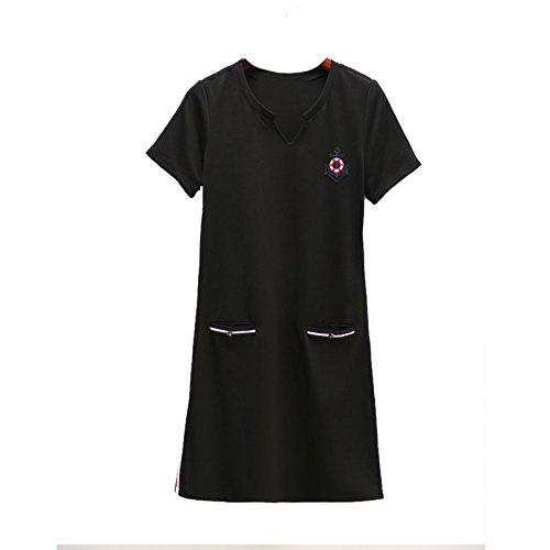 Sport MiGMV de Black vtements Jin Jupe Taille Sportive Longue 2XL Mm Robe pour 140 l'usure Grande Graisse 160 Robe Femmes l't rRwrZnzqC