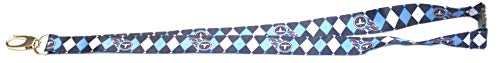 Pro Specialties Group NFL Tennessee Titans Argyle Lanyard