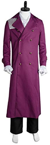 Purple Rain Prince Rogers Nelson Cosplay Costume Full Set (S, Purple)]()