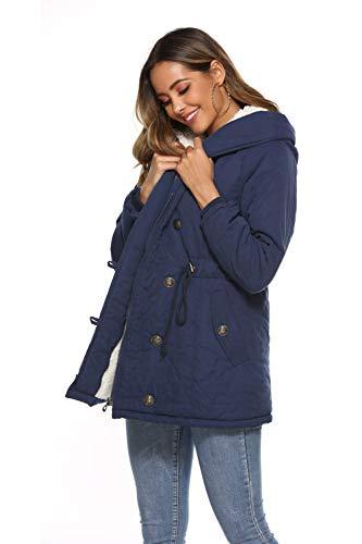 Eleter Women's Winter Warm Coat Hoodie Parkas Overcoat Fleece Outwear Jacket with Drawstring