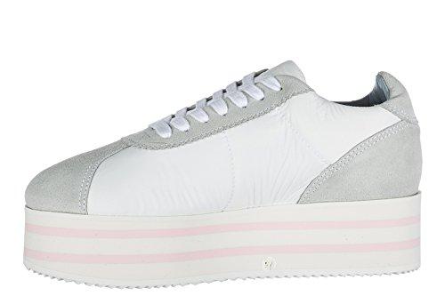 Chiara Ferragni Damesschoenen Suede Sneaker Sneakers Wit