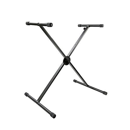 Tenuto Tech Classic Single X-Style Heavy Duty Folding Keyboard Stand Height Adjustable, Black (Single) by Tenuto Tech