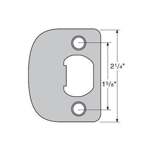 Kwikset 83796-15 Satin Nickel Full Lip 1/4 Round Corner (RCS4) Color: Satin Nickel, Model: 83796-15, Tools & Hardware store ()