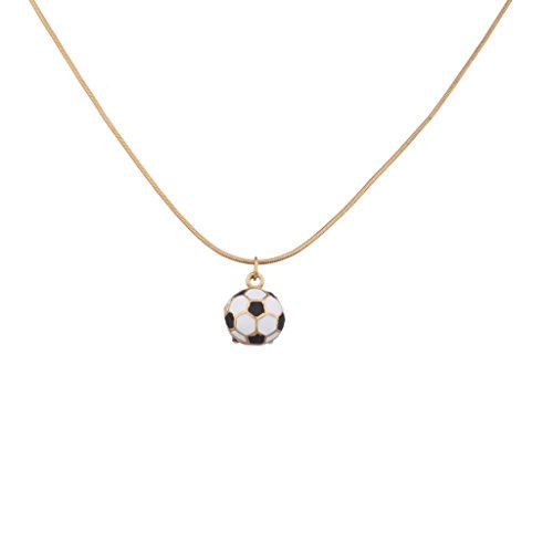 Lux Accessories Sporty Soccer Futbol Fútbol Ball Football Pendant Necklace