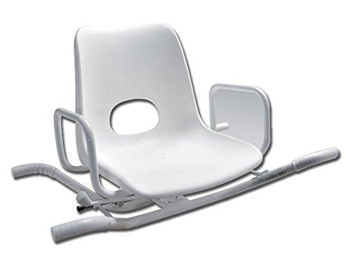 4 opinioni per Sedia da bagno GIMA, girevole a 360°, struttura acciaio, seduta polipropilene,