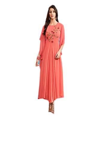 Top Ladies Georgette Orange Jayayamala Sleeve Dress Tunique Bell ROSqZnwxY8