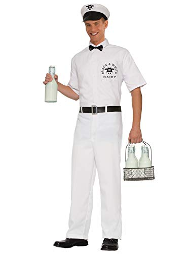 Forum Novelties Men's 50's Milkman Xl Costume, White, X-Large ()