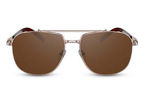 Ca Aviador Piloto Sol Metálica Gafas de Plateadas Montura Hombre 001 UV400 Cheapass Mujer tFCPc