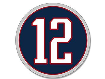 GHaynes Distributing MAGNET ROUND #12 Tom Brady Patriots Colors Magnet(QB # new england 12 number) Size: 4 x 4 inch ()