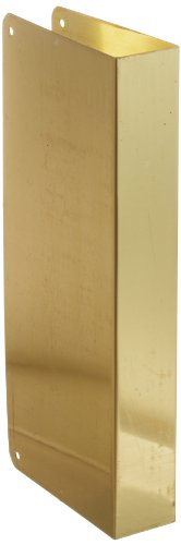 Don-Jo 90-CW 22 Gauge Stainless Steel Blank Wrap-Around Plate with Trim Screws, Polished Brass Finish, 5