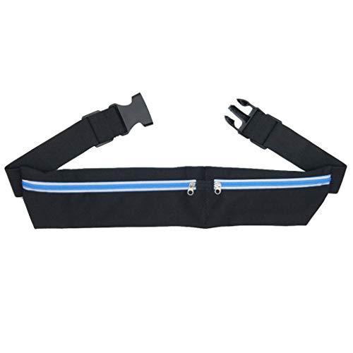Fine Running Belt Waist Pack, Water Resistant Runners Belt Fanny Pack for Hiking Fitness - Adjustable Running Pouch Travel Handy Hiking Sport (Blue)