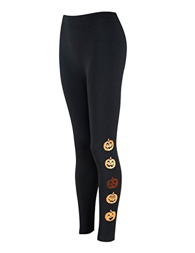 just quella Women's Premium Ultra Soft High Waist Leggings Pants 8958 (M/L, Pumpkin)