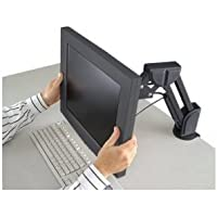 Kensington K60106 FLAT PANEL DESK/MOUNT ARM DESIGNED FOR LCD - BLACK ALT 60056