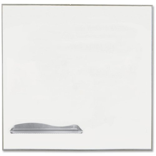 Balt Ultra Trim Board - 48quot; Width x 48quot; Height - Silver Porcelain Steel Surface - Anodized Aluminum Frame - Film - 1 Each Each - Balt Ultra Trim Board