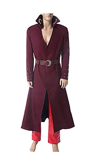 Yi Fang The Seven Deadly Sins Ban Cosplay Costume Fox's Sin of Greed Ban Outfit Trench Coat Pants Suit (Man-S, A) -