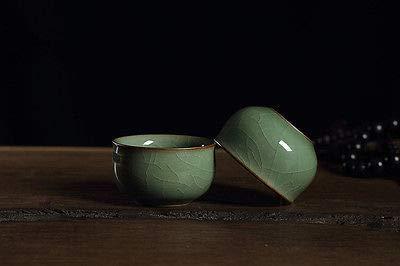 - FidgetGear 2 Cups Crackle Glaze Porcelain Tea Cup Celadon Ceramic Cup for Tea 58ml Green