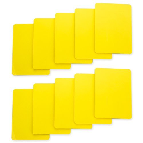 Brybelly Lot of 10 Poker Size Cut Cards (Yellow) (Cut Card)