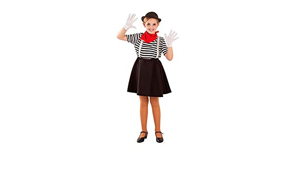 DISBACANAL Disfraz de Mimo para niña - -, 8 años: Amazon.es ...