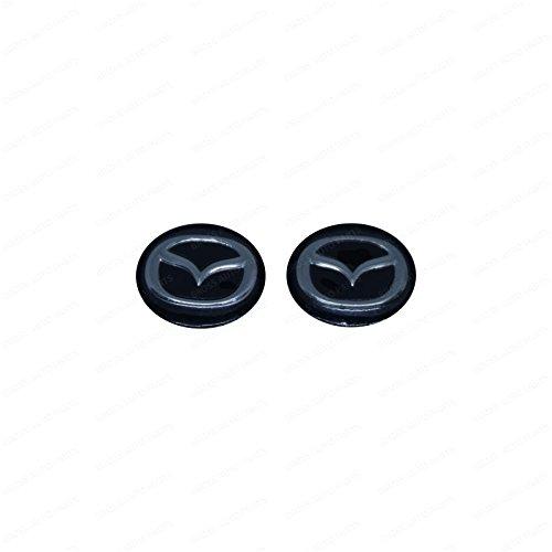 Bross BDP841FBA 2 Pieces Car Key Logo Auto Emblems 14 mm for Mazda