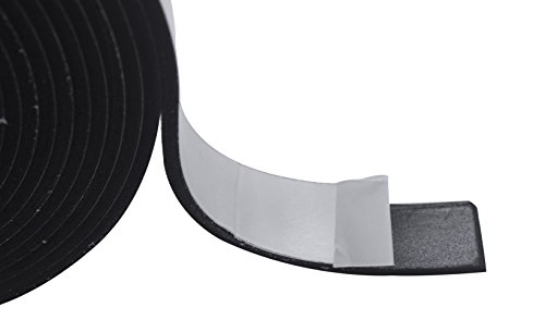 High Density Foam Tape, Foam Seal Strip Black Double-Sided Adhesive Weather Strip Foam Tape (32.8 Feet Length(1 inch Wide X 1/8Inch Thick), -