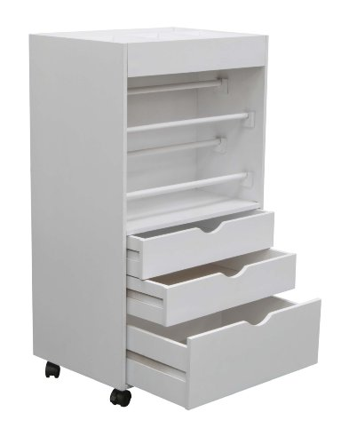 Studio Designs Wrapping Cart White Craft Organizer Storage Cart (Large Image)