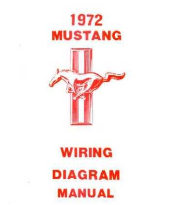 amazon com : 1972 ford mustang wiring diagrams schematics : everything else
