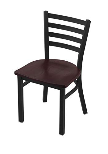 """Holland Bar Stool Co. 400 Jackie 18"""" Chair with Black Wrinkle Finish and Dark Cherry Oak Seat"""