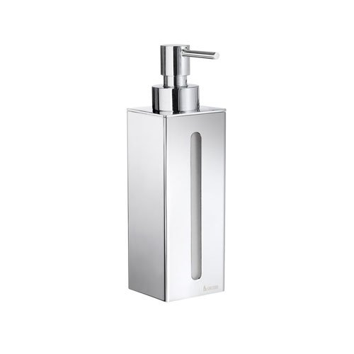 Smedbo SME_FK257 Soap Dispenser Wall mount, Polished Chrome - Smedbo Glass Wall Soap Dispenser