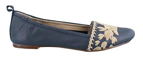 Latigo Donna, Blanche Slip On Flats Navy