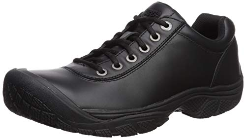 KEEN Utility Men's PTC Dress Oxford Work Shoe,Black,7 M US