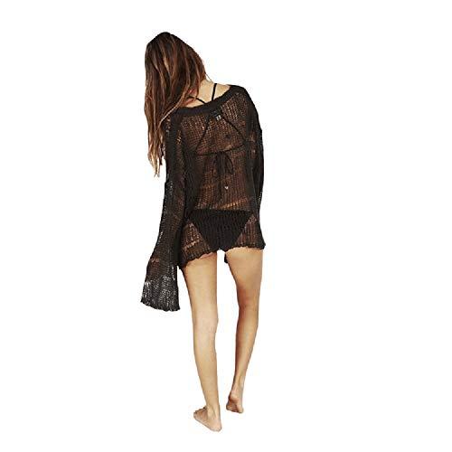 Black Summer Size Fuweiencore Femmes Pulls Sexy Pull Plus x0qAUzC