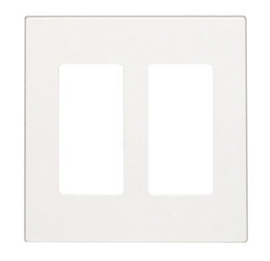 (Leviton Decora Style Two Gang Screwless Wall Plate (C22-80309-0SW))