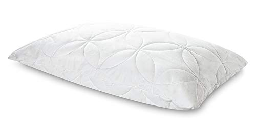 Tempur-Pedic TEMPUR-Cloud Lofty Queen Size Pillow, Medium Soft Support Washable Cover, Assembled in The USA, 5 YR Warranty, White ()