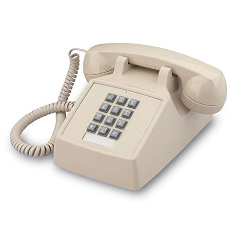 Single Line 2500 Classic Analog Desk Phone with Volume Control, 2 Ports, Handset and Line Cord Included , Beige (Ash)