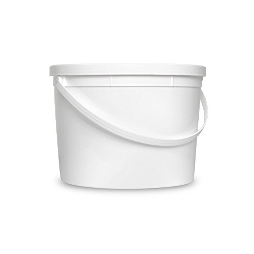 1 Gallon White Organizational Bucket & Lid - Multi-Purpose Utility Pail - Food Grade - Pack of 6 (Snap On Grommets)